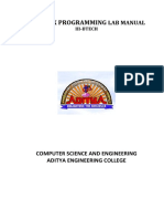 Linux Programming Lab Manual-new Syllabus