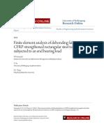 Finite Element Analysis of Debonding Failures in CFRP-strengthene