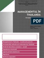 Managementul În Thailanda