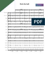 Deck the Halls Anonimo Orchestra Partitura e Parti