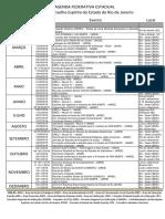Agenda Federativa do CEERJ - 2016