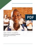 Girls Shine Academy Vision Document
