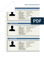 Employee Profile (Online)