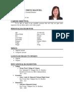 Lovely Jane Mtanuel Resume