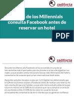 El 62% de los Millennials consulta Facebook antes de reservar un hotel