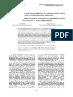 Relatia Dintre Dependenta de Internet Sentimentul de Singuratate Si Suportul Social Perceput in Randul Adolescentilor -Libre (1)