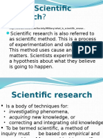 MCS  Cercetarea Stiintifica