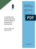 Innovation and Entrepreneurship- A Model Based on Entrepreneur Development