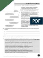 IGCSE Ec Worksheet Unit 2
