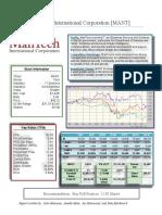 ManTech Stock Report