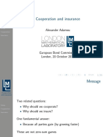 Adamou, Alexander - Cooperation and Insurance