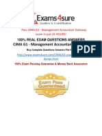 CIMA G1 Practice Test