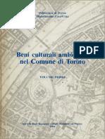 Beni Culturali Ambientali Nel Comune Di Torino Volume1-Indice-parte1