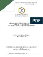 Soal OFI III 2011 Farmasetika