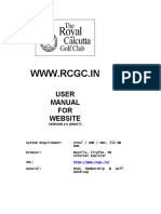 RCGC - Internet User Manual