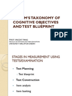 2 Bloom's Taxonomy and Test Blueprint