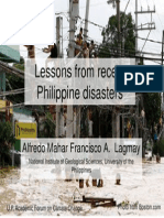 12 Lessons From Recent Philippine Disasters - Dr. Alfredo Mahar Francisco a. Lagmay