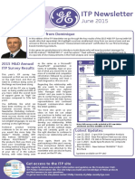 GE M&D ITP Newsletter - June 2015 Edition