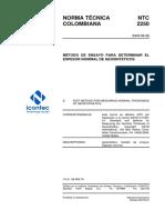 Ntc2250_método de  NTC2250_MÉTODO DE ENSAYO PARA DETERMINAR EL ESPESOR NOMINAL DE GEOSINTETICOS Ensayo Para Determinar El Espesor Nominal de Geosinteticos