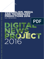 Journalism, Media and Technology Predictions 2016