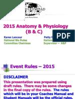 Anatomy&Physiology (b&c) 2015