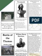 War of 1812 Brochure