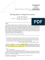 Writing Desire in Nepal Love Letters