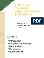 A Study on Consumer Behavior Toward Soft