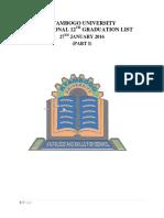 Kyambogo University Graduation List 2016
