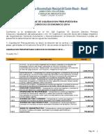 Informe de Liquidacin Presupuestaria 2014