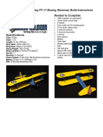 BIPLANO Stearman Instructions