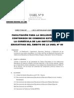 Directiva Ugel Cexes 2010