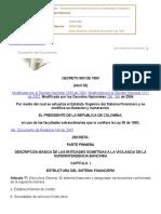 Decreto 663 del 93, Colombia