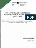 Reformulación Plan vasco Educación para la Paz