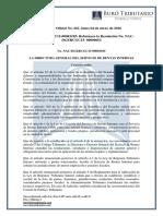 RO# 661 - Reforma Resolución NAC-DGERCGC15-00052 Sobre Paraisos Fiscales y Regimenes Fiscales Preferentes