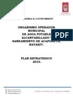 Plan Estrategico Año 2016