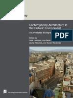 Contemporary Architecture in the Histori