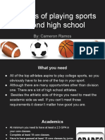 chances of playing sports beyond high school