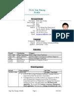 Ngo Son Duong Resume