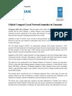 Draft Press Release Global Compact Launch Dar Es Salaam