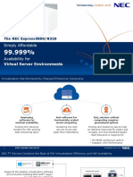 99.999% Availability Fault-Tolerant (FT) Server - NEC Express 5800/R320