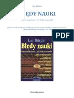 Burgin Luc - Błędy Nauki
