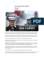 4 Jan 2007 - Sea Cadets Get Sex Abuse Settlement