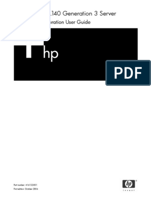 HP ProLiant DL140 G3 Server Software Configuration User