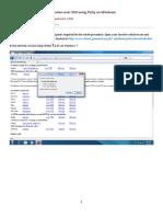 XServer Putty Windows7-ECE