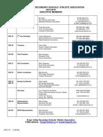 exec   commissioner list  2015 2016