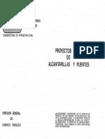 Proyectos de Alcantarillas y Puentes SCT