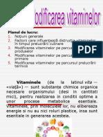 Modificarea vitaminelor