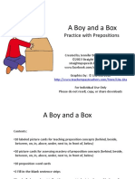 A Boy and a Box Practice With Prepositions