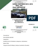 Programa de Mejora Continua 2015 - 2016